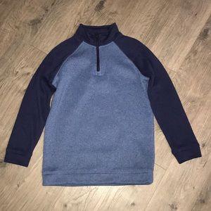 Old Navy, 1/4 zip Fleece sweater. Navy and blue